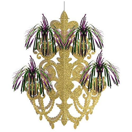 Amscan 670729 Mardi Gras Firework Chandelier Decoration Kronleuchter, Folie, ()