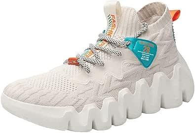 XIDISO Scarpe Moda Uomo Scarpe da Passeggio Leggere Sneakers Senza Lacci Traspiranti per Uomo Scarpe Casual da Trail Running Sport Fitness