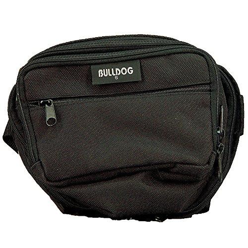 Bulldog schwarz Fanny Pack mit Schwarz Trim, Unisex, BD860, schwarz Trim Pack Fällen