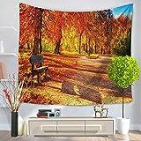 jzxjzx Hojas de otoño tapices para el hogar Tapiz de Pared Toalla de Playa Manta 5 150 * 200