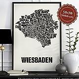 Wiesbaden Buchstabenort Schwarz auf Naturweiß