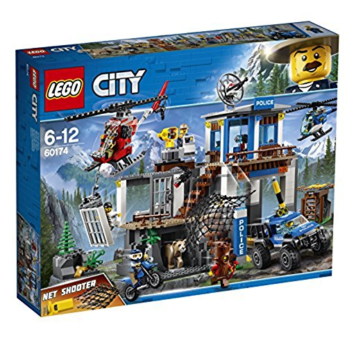 LEGO City 60174 – Bergpolizei Hauptquartier Cooles Kinderspielzeug