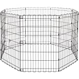 AmazonBasics Foldable Metal Pet Exercise and Playpen Without Door, 36""