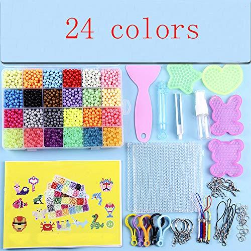 Odster - Wasser-Spray Magic Beads Kit Kinder Puzzle Spielzeug für Spaß DIY Spiel 3D Puzzle Kit Lernspielzeug vieler perler Beads [24 Farben]