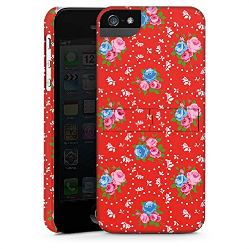 Apple iPhone X Silikon Hülle Case Schutzhülle Blumen Oldschool Muster Premium Case StandUp
