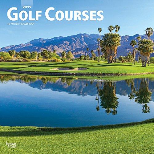 Golf Courses 2019 Square Wall Calendar