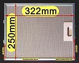 Premium Metall-Fettfilter 320 (nicht 310!) x 250 für Dunstabzugshaube Bosch Siemens Neff Constructa