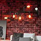 Uncle Sam LI-luces decorativas americano retro creativa pared de la tubería industrial balcón dormitorio de la lámpara de mesa comedor altillo barra de hierro