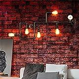 MEHE HOME-luces decorativas americano retro creativa pared de la tubería industrial balcón dormitorio de la lámpara de mesa comedor altillo barra de hierro