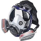 OHMOTOR Facial Mascara Pintura, Máscara de Seguridad Respirador Facial de Vapor Orgánico, Certificación CE