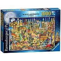 Ravensburger-19843-World-Landmarks-at-Night-Puzzle-1000-Teile