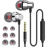 JUKSTG Auriculares In Ear, Auriculares con Cable y Micrófono de Alta Sensibilidad, Control de Volumen y Sonido Puro, Compatib