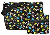 GFM bunte & robuste Mehrzweck-Design, 18 Verschiedene DESIGNS, Messenger Bag, Schultertasche für...