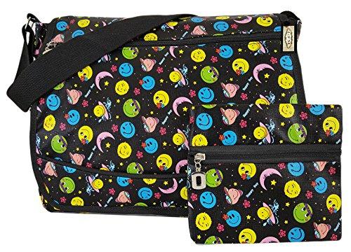 GFM bunte & robuste Mehrzweck-Design, 18 Verschiedene DESIGNS, Messenger Bag, Schultertasche für Schule, Sport, Urlaub, Strand
