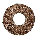 Yunt cesta de mimbre pared Corona Mimbre tejida a mano decoración de pared para flores/plantas artificiales