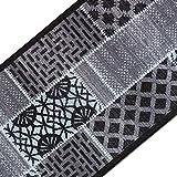 casa pura Teppichläufer mit Modernem Muster in brillianten Farben | Hochwertige Meterware, gekettelt | Kurzflor Teppich Läufer | Küchenläufer, Flurläufer (80x250 cm)