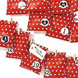 Frau Wundervoll Adventskalender 10 - Bescherung, rot - Weihnachtskalender Bastelset Adventskalender Adventskalender zum Befüllen