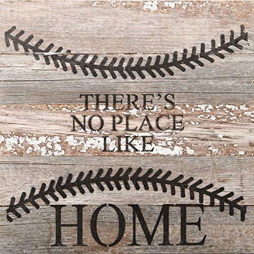 Second Nature von Hand Home Baseball Sortiert Finish 10x 10Wieder Holz, Dekorative Wandtafel Schild