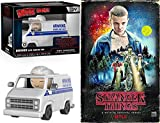 Hawkins Stranger Things Power & Light Exclusive VHS Set Season 1 DVD + Blu-Ray 4 Disc Box Series with Van Figure Collectible Special Edition 2-Pack Combo Bundle