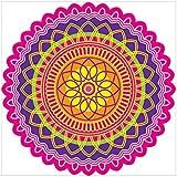 NISH! Rangoli Sticker #019 (Vinyl, Large - 24in X 24in, 50 Pieces)   Rangoli Stickers Floor   Rangoli Floor Stickers   Rangoli Stickers For Wall   Rangoli Stickers For Doors   Diwali Rangoli Stickers