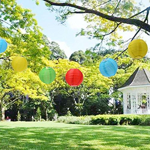 Lampions für den Garten: Uping® Led Lichterkette 20er Batterienbetriebene Lampions Laterne für Party