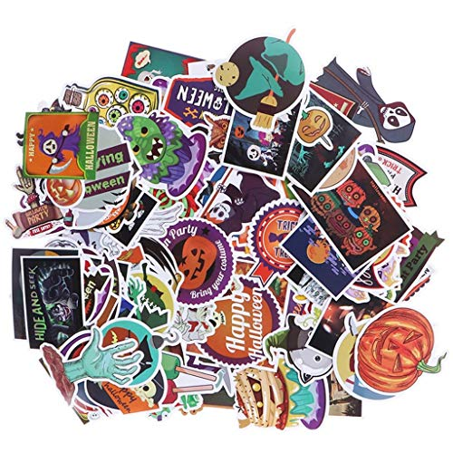 Halloween Kürbis Cupcakes Dekorieren - Obangong Halloween-Aufkleber, Halloween-Dekoration, selbstklebende Formen, Graffiti-Aufkleber