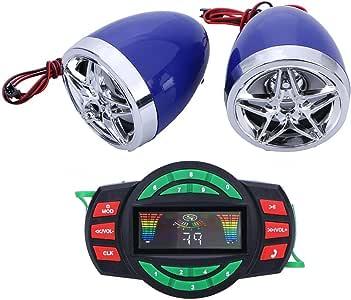 Color : Black Dibiao SUPER BASS Bluetooth 12V Moto MP3 Audio FM Radio Son Syst/ème Haut-Parleur St/ér/éo