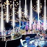 Verbesserte Meteorschauer Regen Lichter Bestehen aus 11.8 Zoll, 8 Röhren & 240 LEDs, Lichterkette Meteor-Effekt mit USB-Anschlüssen für Hochzeit, Weihnachten, Baumbeschmückung, Partys, Wohnkultur