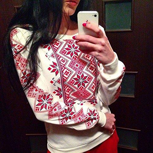 NRSP Pulli Langärmelige Pullover Lady Crewneck Sweater White L (Platten-jugend-t-shirt)