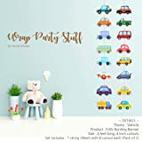 Suruchi Strokes Vehicle Theme Birthday Decoration Banner, Cake and Cupcake Topper, Swirls Ceiling Hangings, Hand Props, Retur