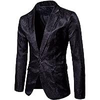 GUOCU Mens Casual Suit Blazer Slim Fit Coats Chic Jackets Paisley Print Tuxedo Jacket Retro Tailored Fit Dinner Blazer
