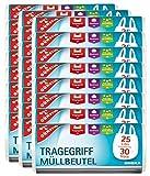 Gut & Günstig Müllbeutel/Mülltüten mit Tragegriff, 25 Liter, 30 Stück pro Rolle, Reißfest & Flüssigkeitsdicht, Produkt & Verpackung recyclebar (24er Pack)