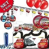 CARS 3 Geburtstag-Deko-Set, 53-teilig zum Kindergeburtstag Jungen und Mädchen und CARS Motto-Party für 8 Kids