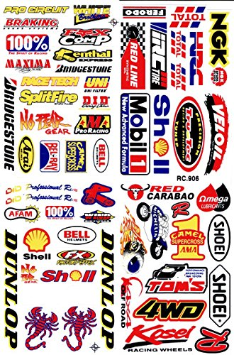 by soljo Sponsor Sponsors Sticker Tuning Racing Motocross Autocollant Feuille 27 x 18 cm