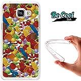 BeCool® Fun - Coque Etui Housse en GEL Flex Silicone TPU Samsung Galaxy A5 2016 , protège et s'adapte a la perfection a ton Smartphone et avec notre design exclusif.Bonbon couleurs