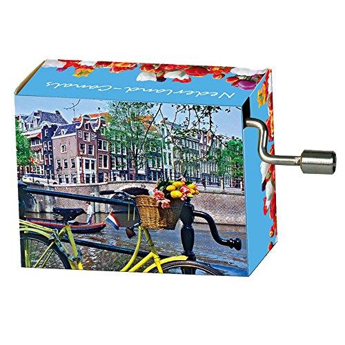 Fridolin-99131-Scatola a musica-Tulipani di Amsterdam
