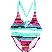 Changhants Bikini Set Ragazza Multicolor Stripe 6-16 Anni Costumi da Bagno Due Pezzi per Bambina Costume da Bagno per…