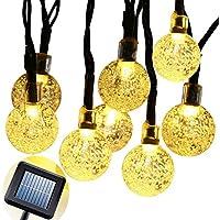 Illuminazione Led, VSOAIR Crystal Ball Globe Luci di Natale 30 Luce Fata LED Caldo Impermeabile Idea Illuminazione Bianca per Pasqua, Natale, Casa, Giardino, Party