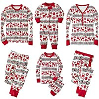 SERAPHY Matching Christmas Pajamas Family Set Holiday Pjs Matching Couples Kids 2 Pieces Warm Clothes Sleepwear-Women-M