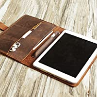Personalized iPad Pro 10.5 / 9.7 / 12.9 leather cover portfolio apple pencil holder iPad cover case for 2017 iPad Pro 9.7 / Pro 10.5 / 12.9 Luxury Leather portfolio Cover