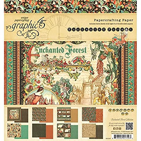 Graphic 45 Graphic 45 Double-Sided Paper Pad 8-inch x 8-inch