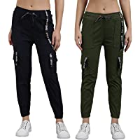 FUNDAY FASHION Women's Toko Cargo Joggers Pack of 2