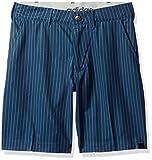 adidas Golf Jungen Ultrastar Microstripe Shorts, Jungen, Mineral Blue, Large