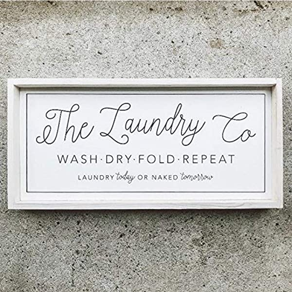 Unknow Laundry Room Wood Sign Laundry Room Decor Farmhouse Laundry Sign Wash Dry Fold Laundry Sign Modern Farmhouse Sign Decor Wooden Laundry Amazon Co Uk Garden Outdoors