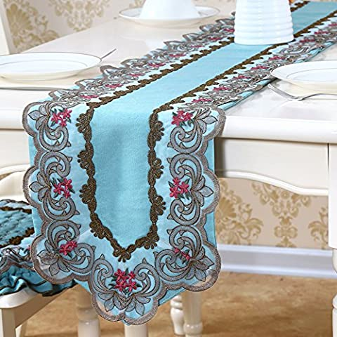 Modern simple table runner/[chinese style],embroidery lace,antique bed flag/ bed flag -A