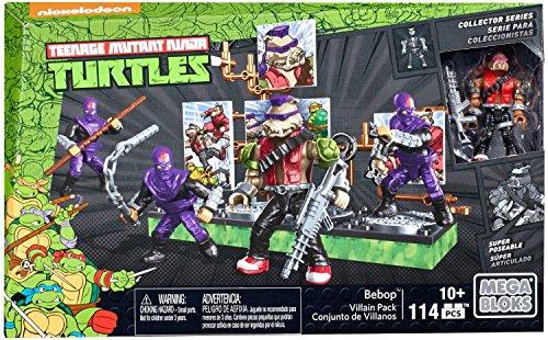 Mega Bloks–Bebop und seine Band-Bösewichte, Ninja Turtles, Baukasten (Mattel - Ninja Hintergrund Turtle