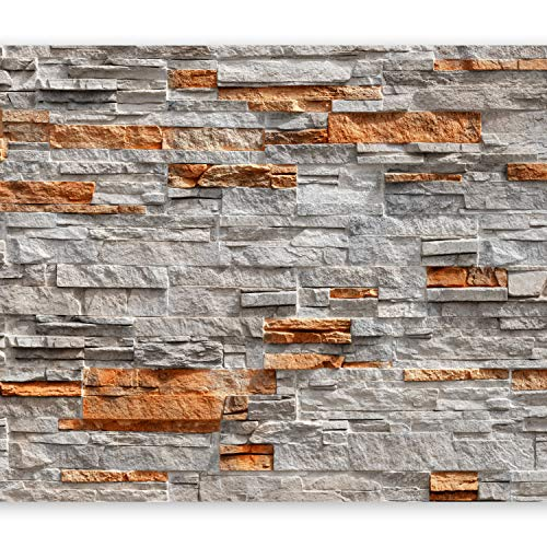 murando - Fototapete Steinoptik 400x280 cm - Vlies Tapete - Moderne Wanddeko - Design Tapete - Wandtapete - Wand Dekoration - Steintapete Steine Stein Mauer Steinoptik 3D f-C-0164-a-c