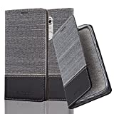 Cadorabo Book Case works with ZTE Axon 7 MINI in GREY BLACK