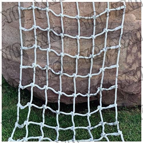 Kletternetz für Kind,Geländertreppen-Schutzzaun-dekorative Balkon-Netze Cargo Fixed Grid Playgrounds Strickleiter LKW-Anhänger Schweres Decksgeflecht Sicheres Netz für Innen-und Außencontainer
