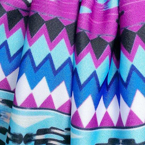Summer Mae Damen Gemustert Tankini-Set Badeanzug für Frauen Gestreift